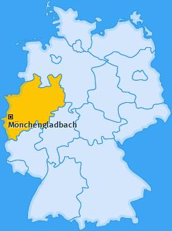 mönchengladbach karte deutschland PLZ Mönchengladbach Postleitzahl Nordrhein Westfalen Deutschland