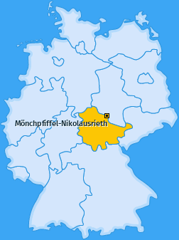 Karte von Mönchpfiffel-Nikolausrieth