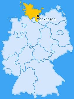 Karte von Mönkhagen