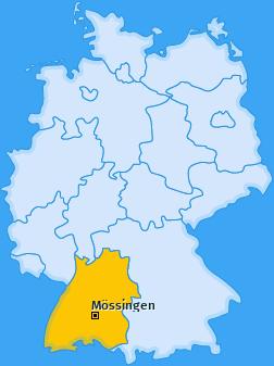 Karte von Mössingen