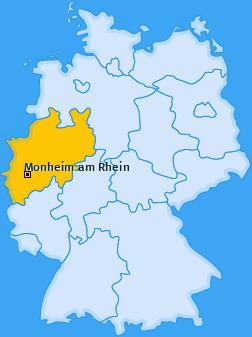 Karte von Monheim am Rhein