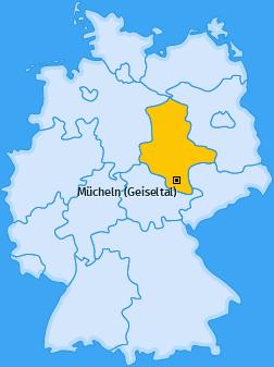 Karte von Mücheln (Geiseltal)