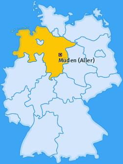 Karte von Müden (Aller)