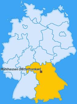 Karte von Mühlhausen (Mittelfranken)