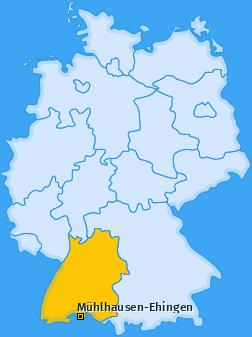 Karte von Mühlhausen-Ehingen
