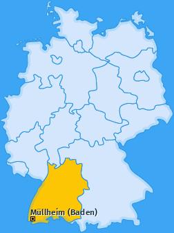 Karte von Müllheim (Baden)