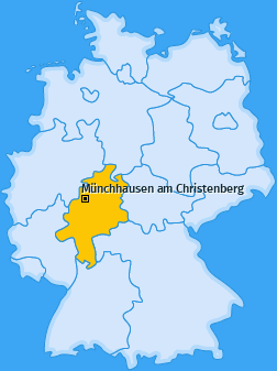 Karte von Münchhausen am Christenberg