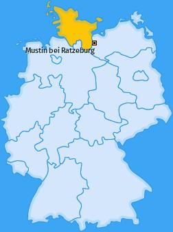 Karte von Mustin bei Ratzeburg