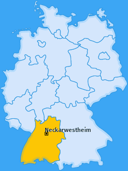 Karte von Neckarwestheim