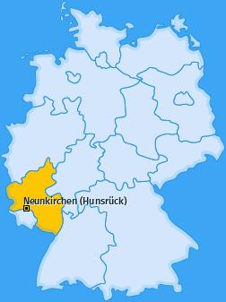 Karte von Neunkirchen (Hunsrück)