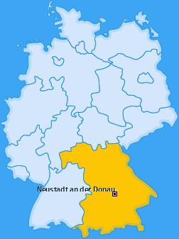 Karte von Neustadt an der Donau