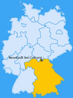 Karte von Neustadt bei Coburg