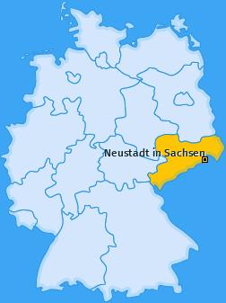 Karte von Neustadt in Sachsen