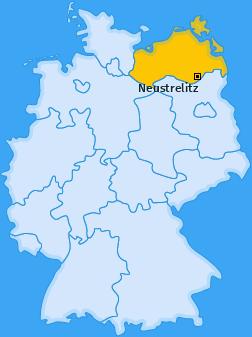 Karte von Neustrelitz