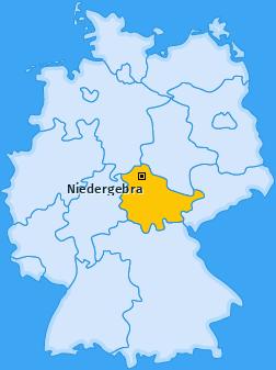 Karte von Niedergebra