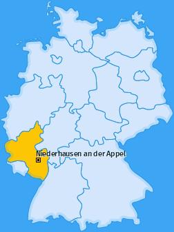 Karte von Niederhausen an der Appel