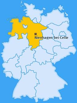 Karte von Nienhagen bei Celle