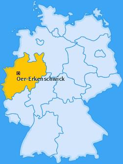Karte von Oer-Erkenschwick