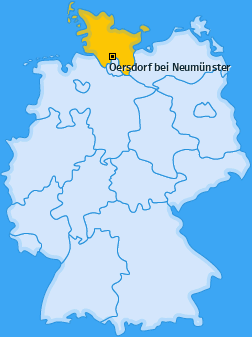 Karte von Oersdorf bei Neumünster