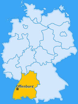 Karte Zell-Weierbach Offenburg