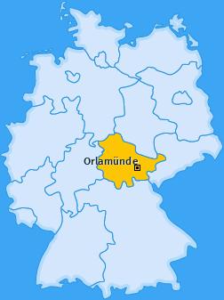 Karte von Orlamünde