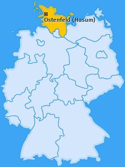 Karte von Ostenfeld (Husum)