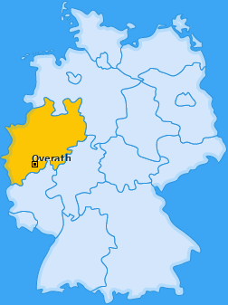 Karte von Overath