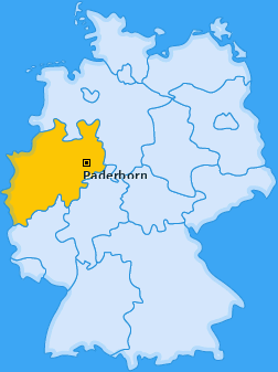 Karte von Paderborn