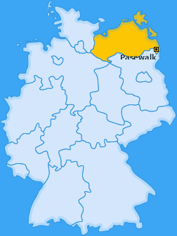 Karte von Pasewalk