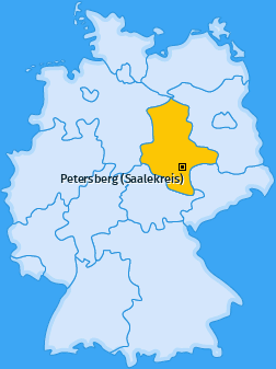 Karte von Petersberg (Saalekreis)