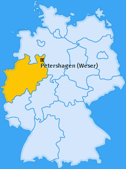 Karte von Petershagen (Weser)