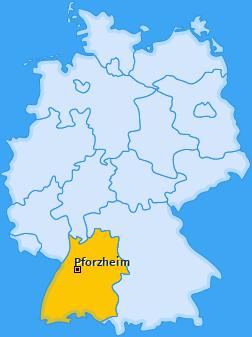 Karte von Pforzheim