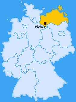 Karte von Picher