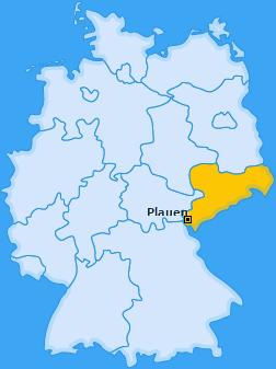 Karte von Plauen