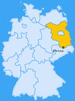 Karte von Plessa