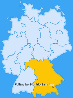Karte von Polling bei Mühldorf am Inn