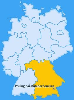 Karte Dietlham Polling bei Mühldorf am Inn