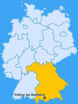 Karte von Polling bei Weilheim