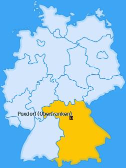 Karte von Poxdorf (Oberfranken)