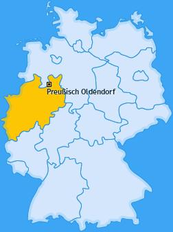 Karte von Preußisch Oldendorf