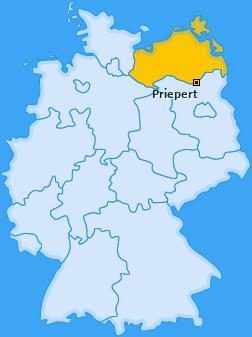 Karte von Priepert