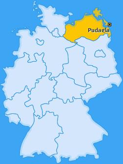 Karte von Pudagla