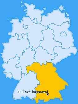 Karte von Pullach im Isartal