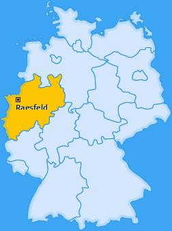 Karte von Raesfeld