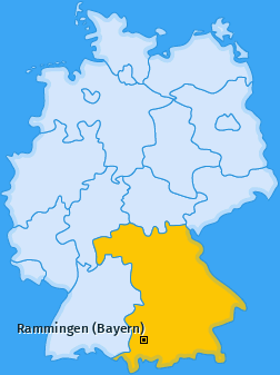 Karte von Rammingen (Bayern)