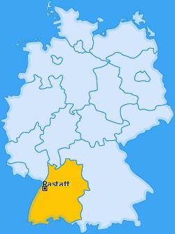 Karte von Rastatt