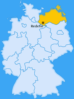 Karte von Redefin