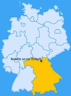 Karte von Redwitz an der Rodach