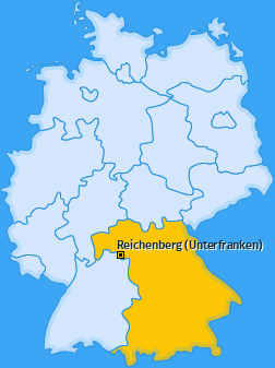 Karte von Reichenberg (Unterfranken)