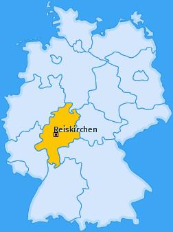 Karte von Reiskirchen